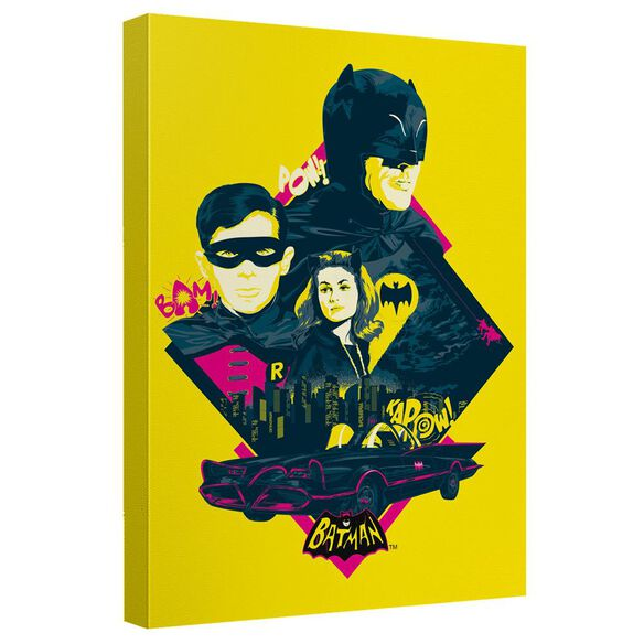 Batman Classic Tv Heroes And Villains Canvas Wall Art With Back Board