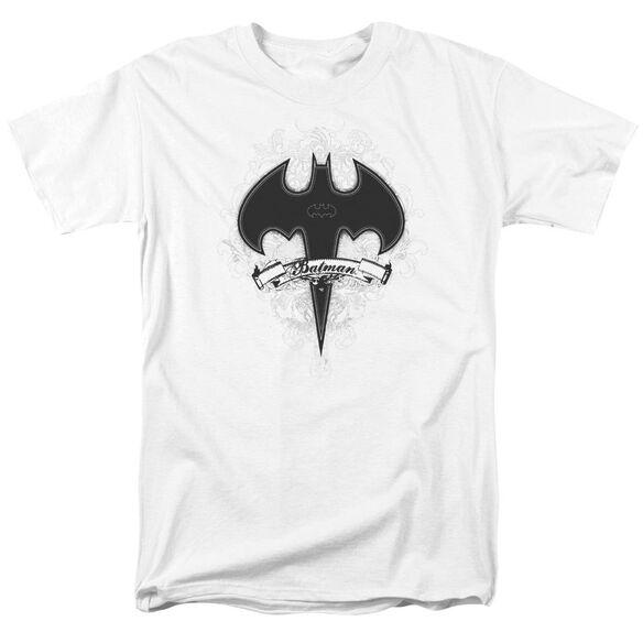 Batman Gothic Gotham Short Sleeve Adult White T-Shirt