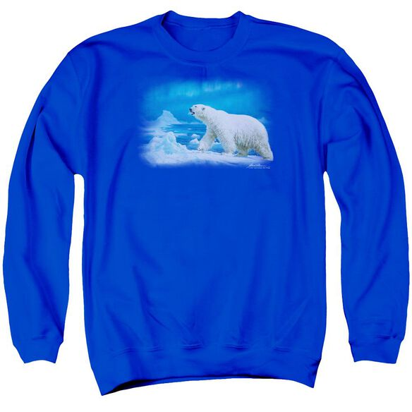Wildlife Nomad Of The North Adult Crewneck Sweatshirt Royal