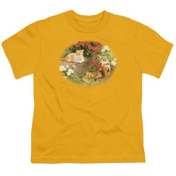 Wildlife Kittens And Mums Short Sleeve Youth T-Shirt
