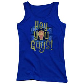 Electric Company Hey You Guys Juniors Tank Top Royal