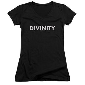 Valiant Divinity Logo Junior V Neck T-Shirt