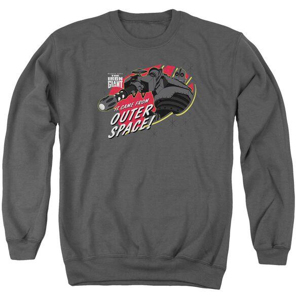 Iron Giant Outer Space Adult Crewneck Sweatshirt