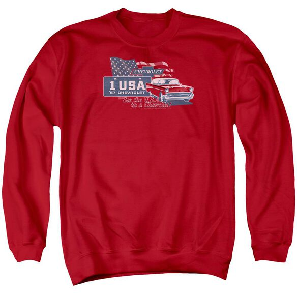 Chevrolet See The Usa Adult Crewneck Sweatshirt