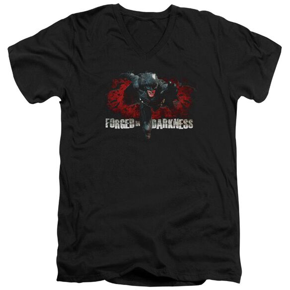 Dark Knight Rises Forged In Darkness Short Sleeve Adult V Neck T-Shirt