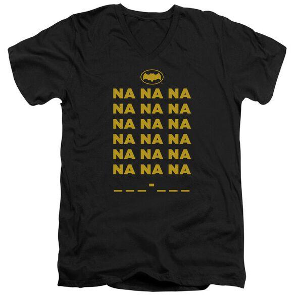 Batman Classic Tv Na Na Na Short Sleeve Adult V Neck T-Shirt