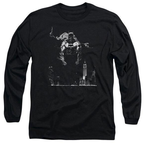 BATMAN DIRTY CITY - L/S ADULT 18/1 - BLACK T-Shirt