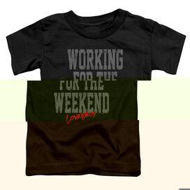 Loverboy Working Short Sleeve Toddler Tee Black T-Shirt