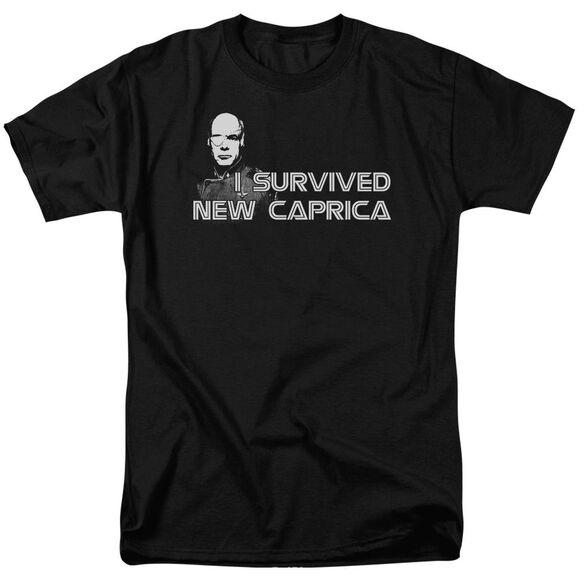 BSG I SURVIVED NEW CAPRICA - S/S ADULT 18/1 - BLACK T-Shirt
