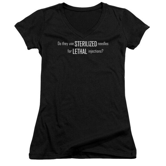 Sterilized Needles Junior V Neck T-Shirt