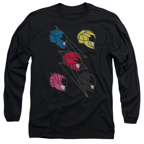 Power Rangers Line Helmets Long Sleeve Adult T-Shirt