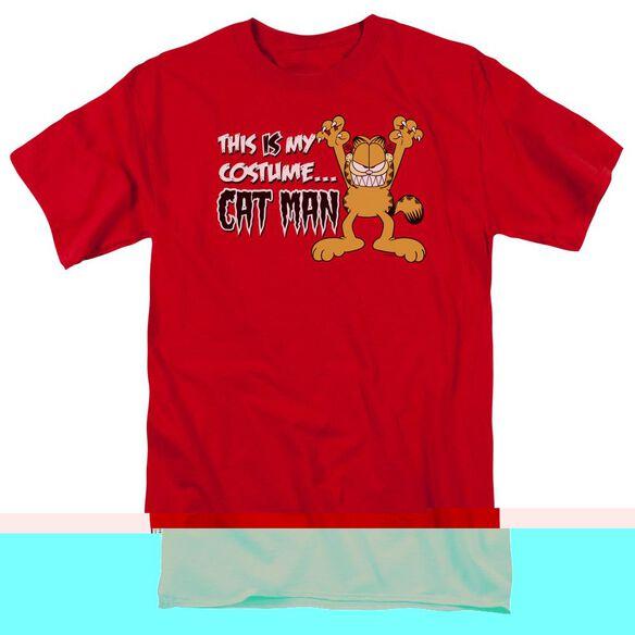 GARFIELD CAT MAN - S/S ADULT 18/1 - RED T-Shirt
