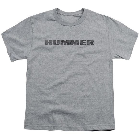 Hummer Distressed Hummer Logo Short Sleeve Youth Athletic T-Shirt