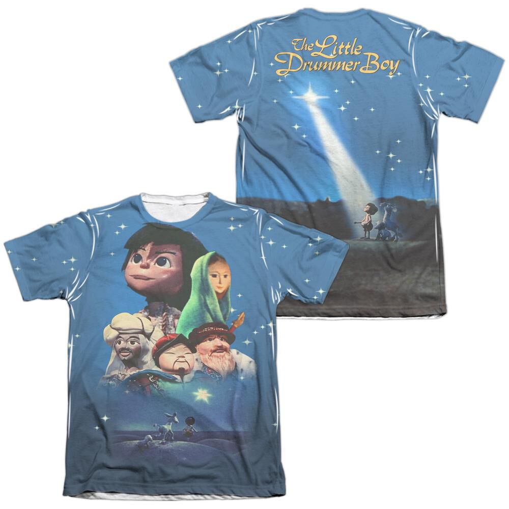 e2095c18 Little Drummer Boy Look To The Stars (Front Back Print) Adult Poly Cotton  Short