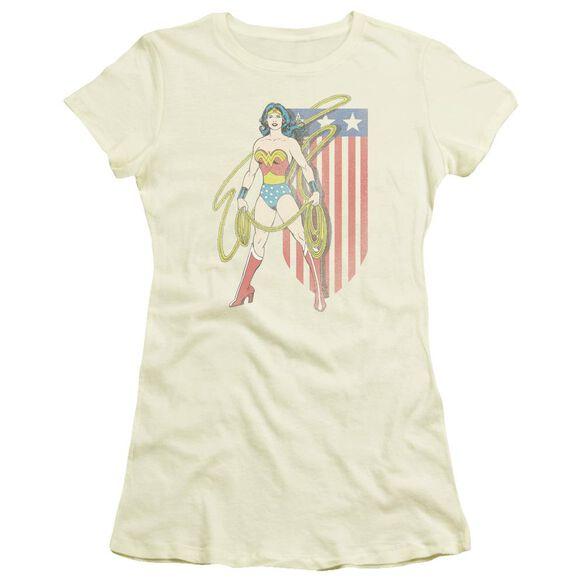 Dc Usa Banner Short Sleeve Junior Sheer T-Shirt