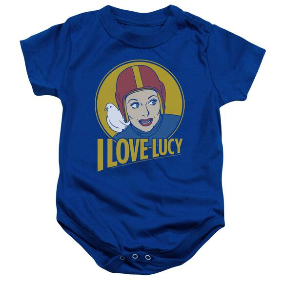 I Love Lucy Lb Super Comic Infant Snapsuit Royal Blue