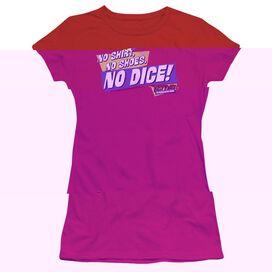 FAST TIMES RIDGEMONT HIGH NO DICE - S/S JUNIOR SHEER - RED T-Shirt