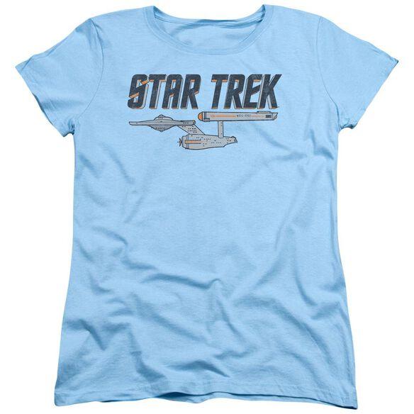 Star Trek Entreprise Logo Short Sleeve Womens Tee Light T-Shirt