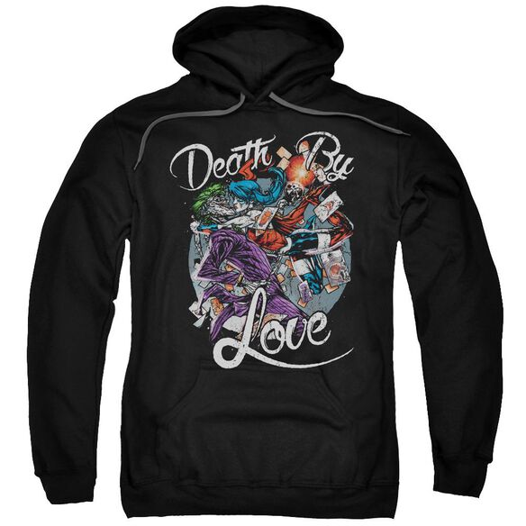 Batman Death By Love Adult Pull Over Hoodie