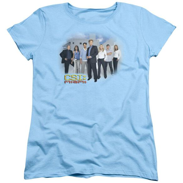 Csi Miami Cast Short Sleeve Womens Tee Light T-Shirt