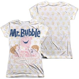 Mr Bubble Bath Buds (Front Back Print) Short Sleeve Junior 100% Poly Crew T-Shirt