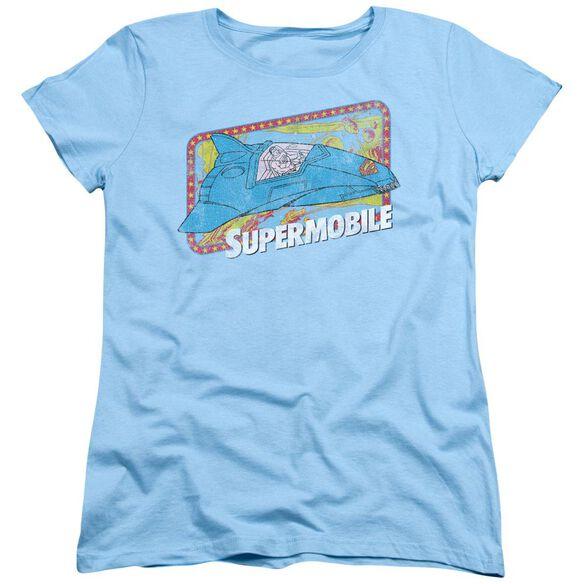 Dc Supermobile Short Sleeve Womens Tee Light T-Shirt