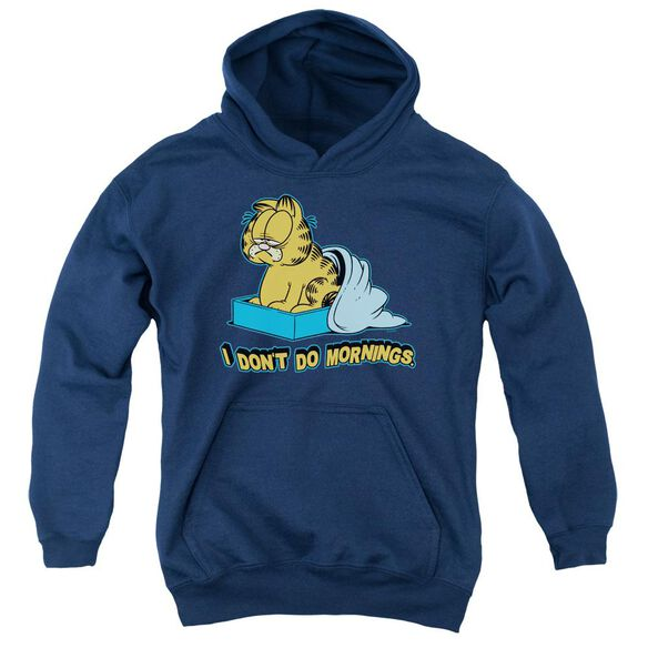 Garfield I Don't Do Mornings Youth Pull Over Hoodie