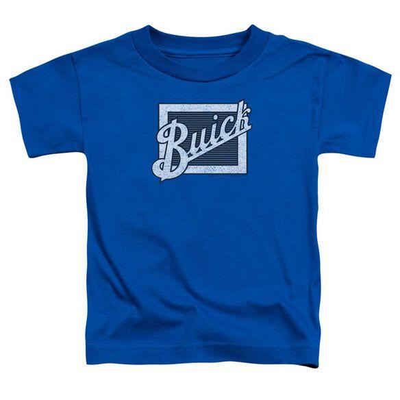 Buick Distressed Emblem Short Sleeve Toddler Tee Royal Blue T-Shirt