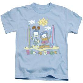 GARFIELD BEACH BUMS - S/S JUVENILE 18/1 - LIGHT BLUE - T-Shirt