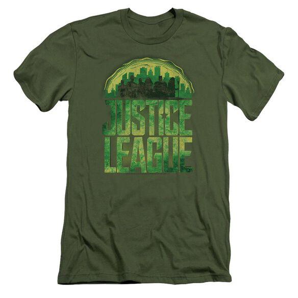 Justice League Movie Kryptonite Short Sleeve Adult Military T-Shirt