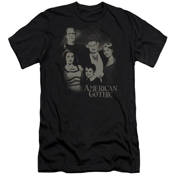 The Munsters American Gothic Short Sleeve Adult T-Shirt