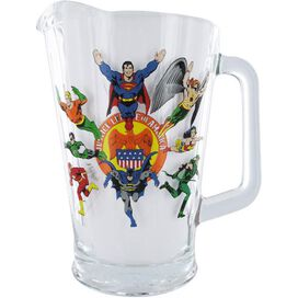 Justice League Glass Pitcher