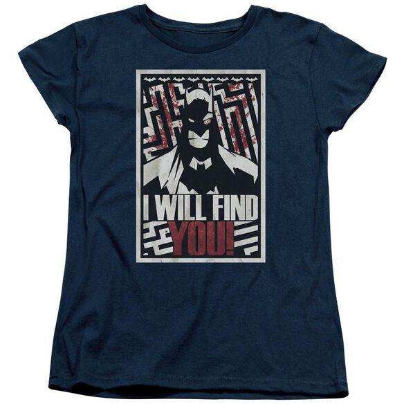 Batman I Will Fnd You Short Sleeve Womens Tee T-Shirt