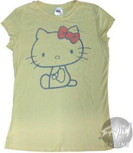 Hello Kitty HK Outline Juniors T-Shirt