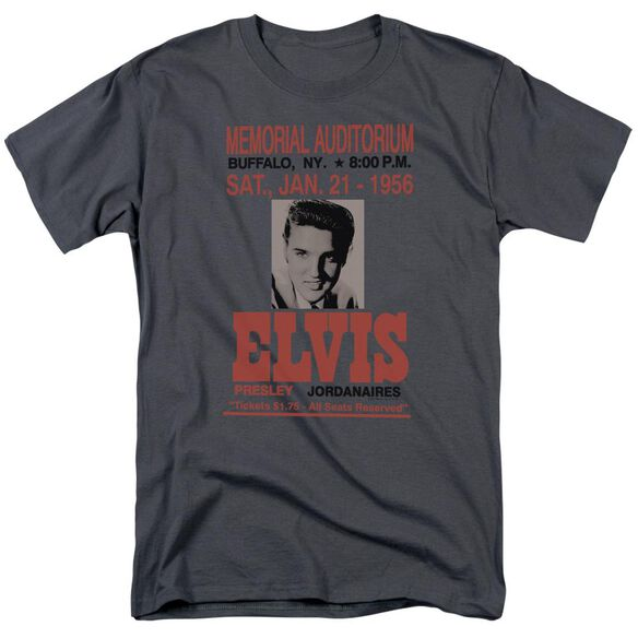 Elvis Buffalo 1956 Short Sleeve Adult Charcoal T-Shirt