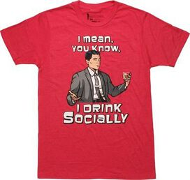 Archer Drink Socially T-Shirt Sheer