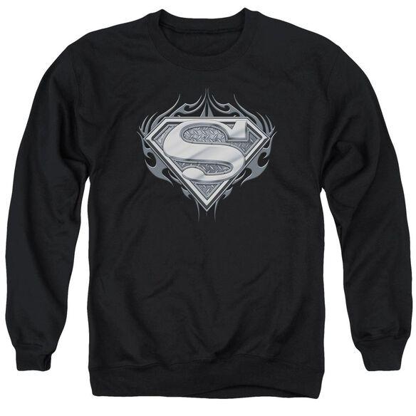 Superman Biker Metal - Adult Crewneck Sweatshirt - Black