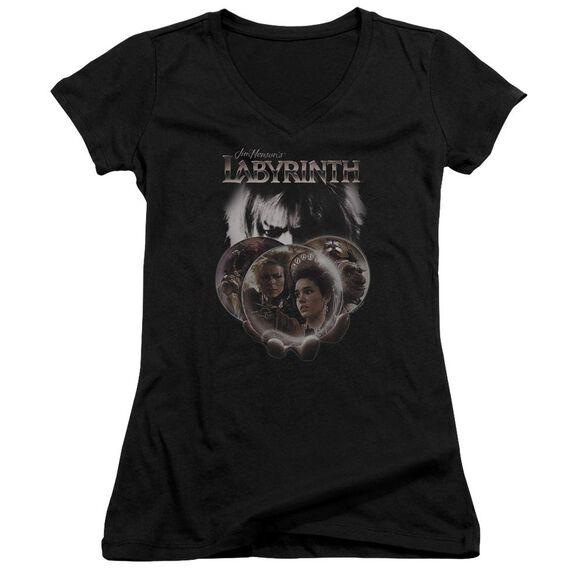 Labyrinth Globes Junior V Neck T-Shirt