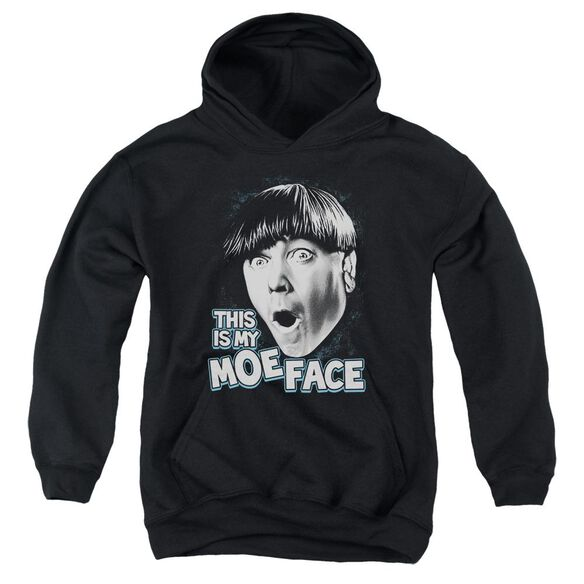 Three Stooges Moe Face Youth Pull Over Hoodie
