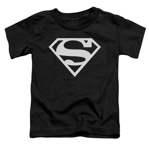 Superman Logo Short Sleeve Toddler Tee Black T-Shirt