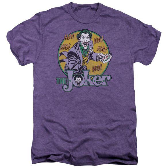 Dc Joker Short Sleeve Adult Premium Tee Deep Purple T-Shirt