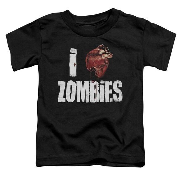 I Bloody Heart Zobmies Short Sleeve Toddler Tee Black Sm T-Shirt