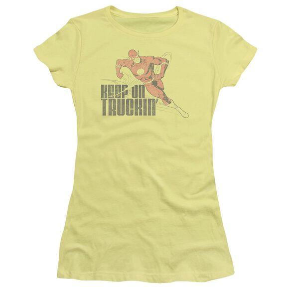 Dc Flash Keep On Truckin Short Sleeve Junior Sheer T-Shirt