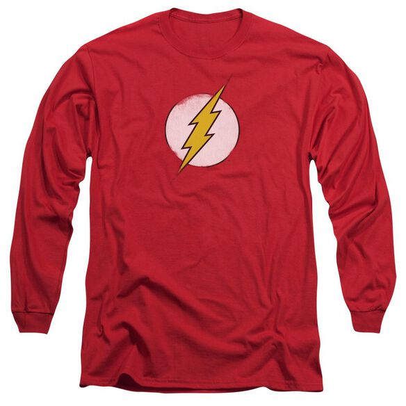 Dc Flash Rough Flash Logo Long Sleeve Adult T-Shirt