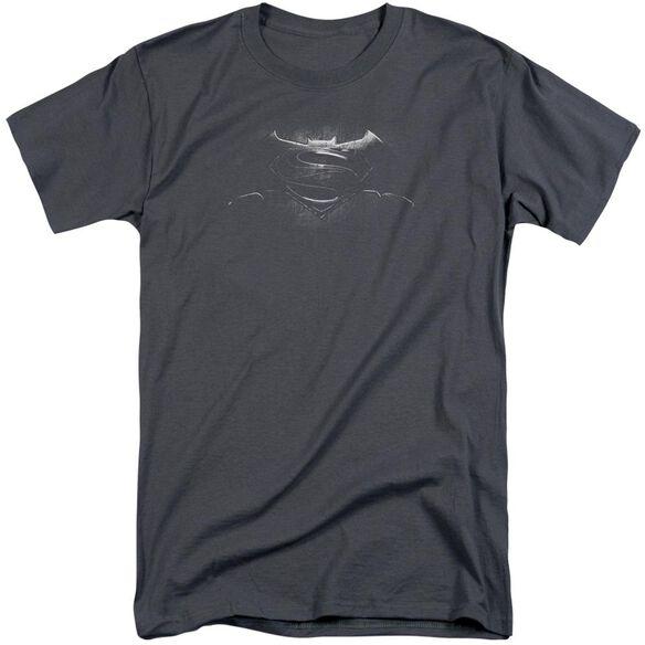 Batman V Superman Bw Logo Short Sleeve Adult Tall T-Shirt