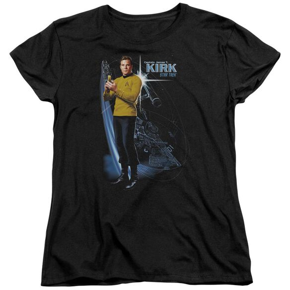 Star Trek Galactic Kirk Short Sleeve Womens Tee T-Shirt