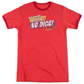 Fast Times Ridgemont High No Dice - Adult Heather Ringer - Red