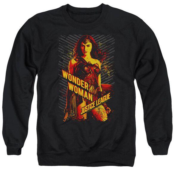 Justice League Movie Wonder Woman Adult Crewneck Sweatshirt