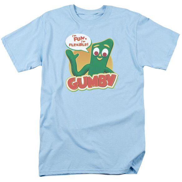 Gumby Fun & Flexible Short Sleeve Adult Light T-Shirt
