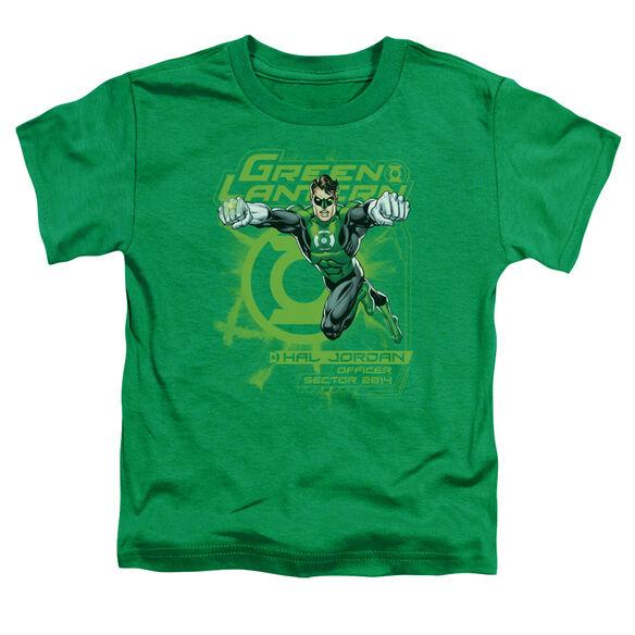 GREEN LANTERN SECTOR 2814 - S/S TODDLER TEE - KELLY GREEN - T-Shirt